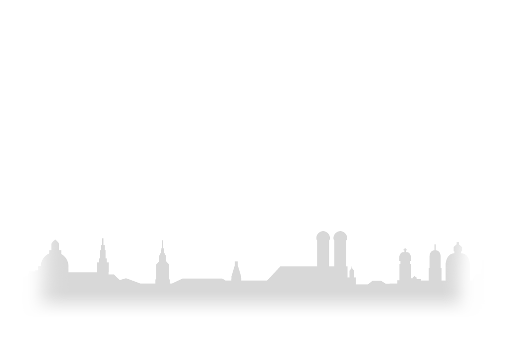 Silhouette von München